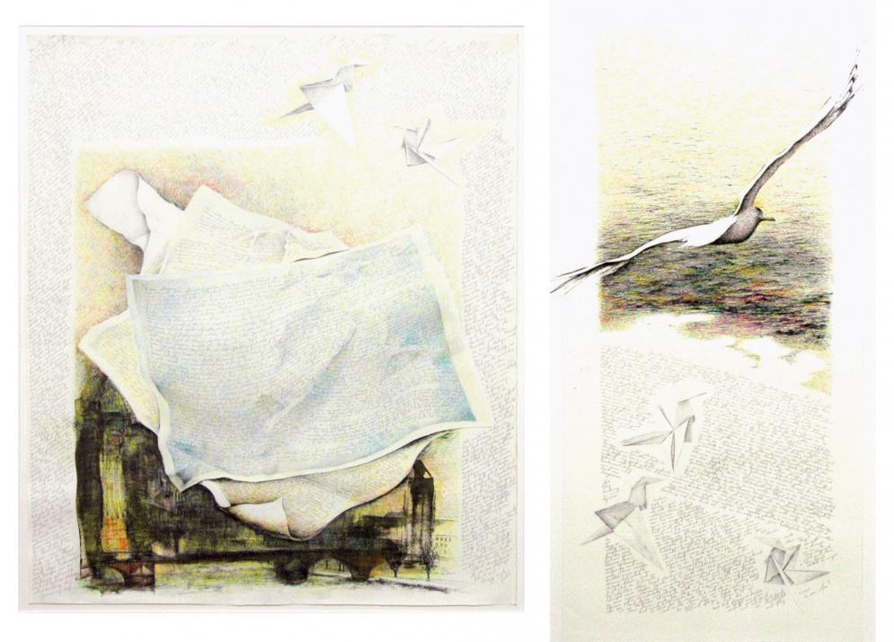 Renate Ruschin, Träume können fliegen, 102x91 cm, 102x54 cm, 2010