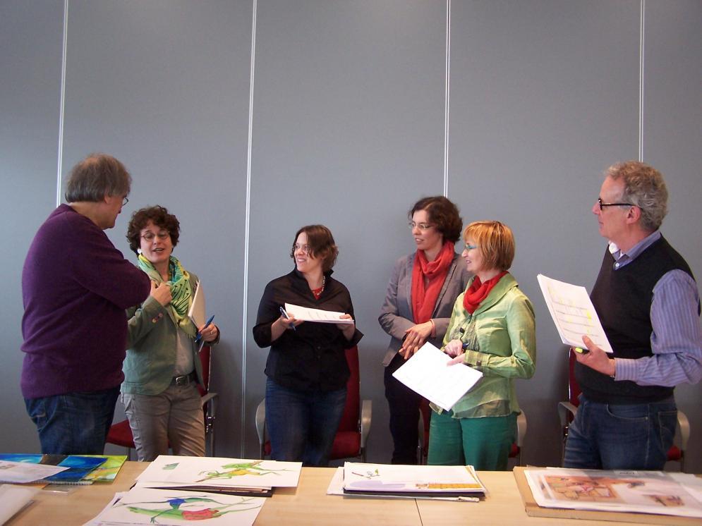 Die Jury (von links): Jan Buchholz, Dr. Mareile Oetken, Rebecca Schmalz, Susanne Wunderlich, Isa-Maria Röhrig-Roth und Prof. Jürgen Rieckhoff