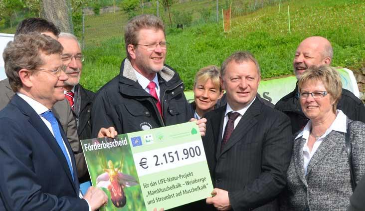 Beim Förderstart des Projektes durch die EU im Mai 2013